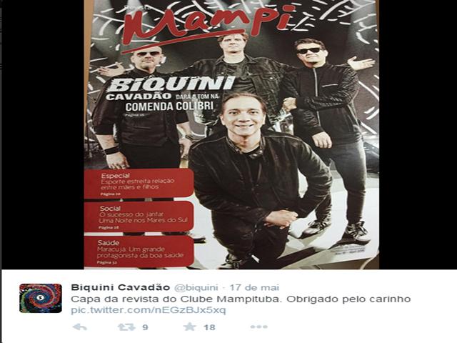 S.R. Mampituba é destaque em rede social do grupo Biquini Cavadão