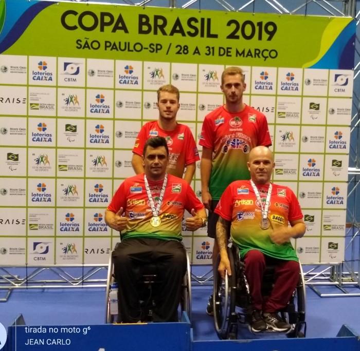Mesatenistas concluem primeira competição nacional do ano com três medalhas