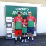 Artur Coelho com os técnicos Rodrigo Canuto e Fernando Alves.