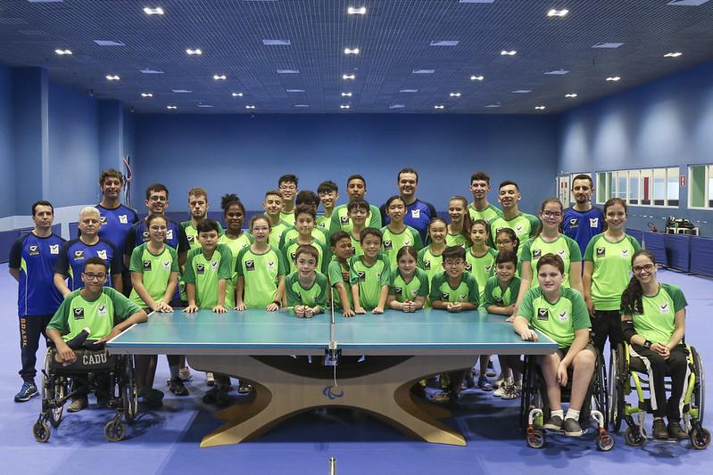 Criciumenses treinam com a Seleção Brasileira de Tênis de Mesa