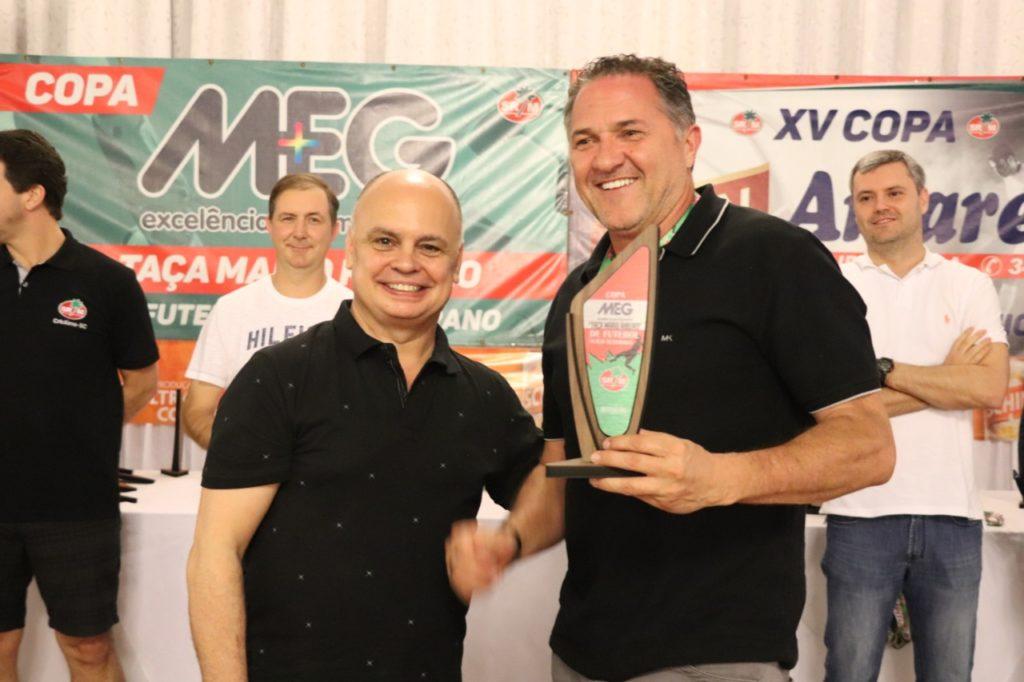 "Artilheiro - Valdir Crestani - Copa ""Meg – Taça Mario Ribeiro"" de Futebol Suíço Veterano"