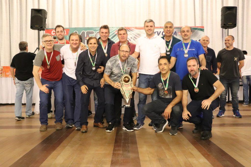"""Equipe Sparta - 3º lugar Copa """"Meg – Taça Mario Ribeiro"""" de Futebol Suíço Veterano"""