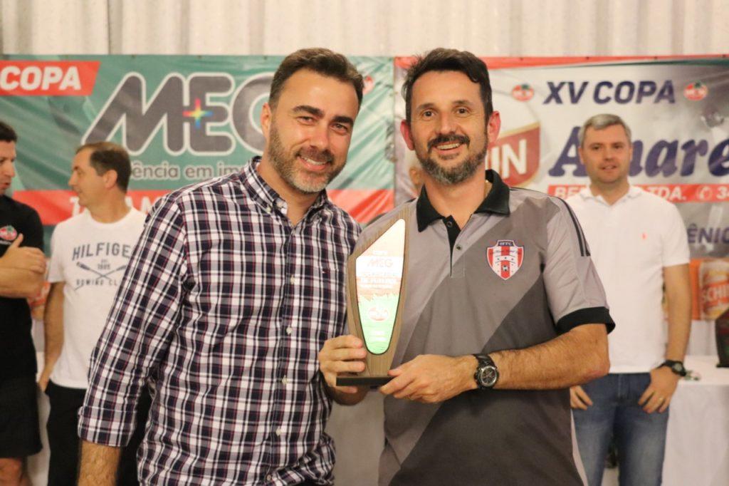 """Técnico campeão - Nilton José Demo Filho - Copa """"Meg – Taça Mario Ribeiro"""" de Futebol Suíço Veterano"""